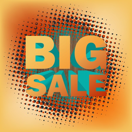 big deal: 3D big sale text on halftone pattern. And also includes EPS 10 vector