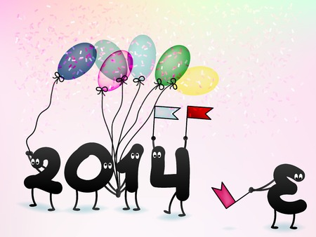 Funny 2014 New Years Eve greeting card. + EPS10 vector file Vector