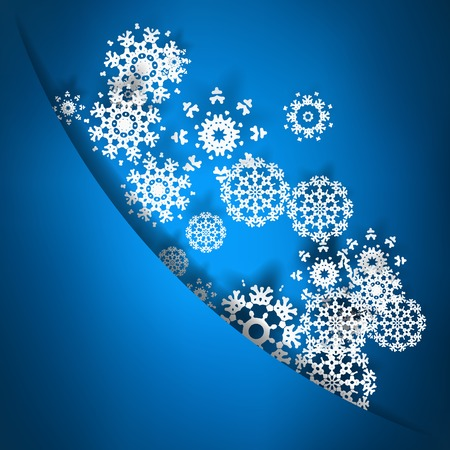 Blue christmas card with snowflakes. + EPS10 vector file Vector