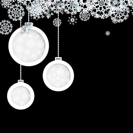 Black and White christmas background. + EPS10 vector file Illustration