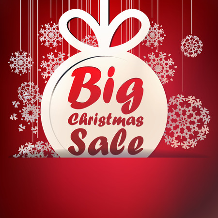 Christmas Big Sale template with copy space. + EPS10 vector file
