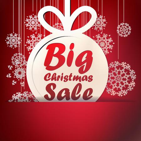 Kerst Big Sale sjabloon met kopie ruimte. + EPS10 vector-bestand