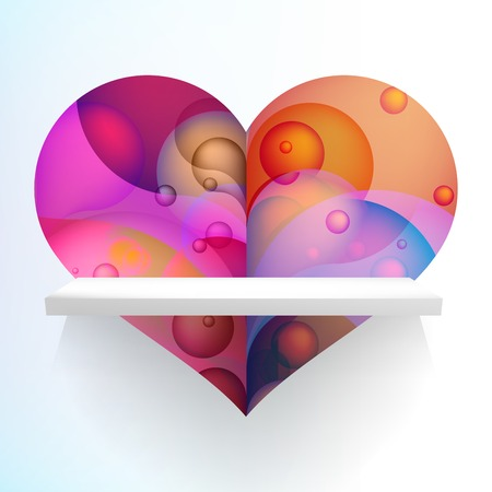 Valentines Party Flyer or card. + EPS10 vector file Illustration
