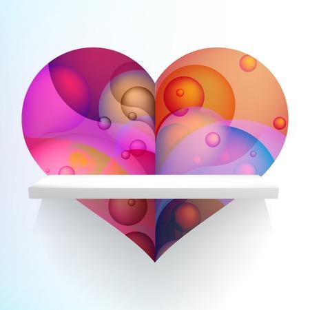 Valentines Party folder of kaart. + EPS10 vector-bestand