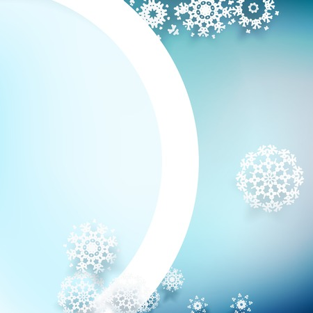 Snowflakes and space for text  plus