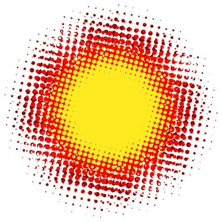 Abstract digital blob halftone flash  plus  Illustration