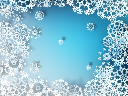 Paper snowflakes for winter background Vector