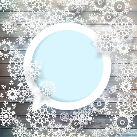 Snowflakes and space for text  plus EPS10