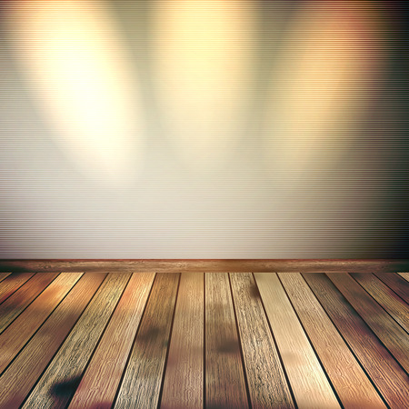 Empty lines wall with 3 spot lights  Vector