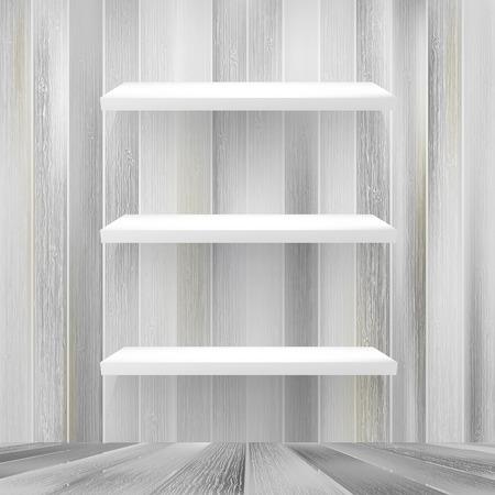 bar interior: Layers Blank white wooden bookshelf
