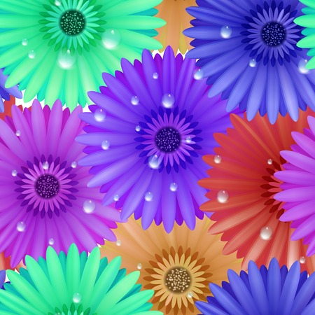 patter: Seamless flower gerbera patter  Illustration