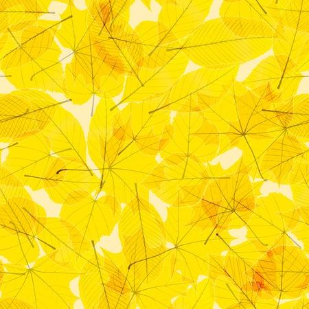 Transparante Herfstbladeren plus Stock Illustratie