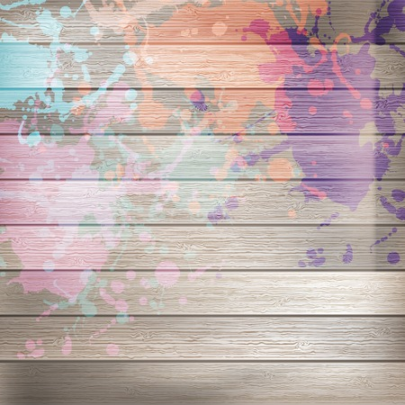 Wooden with paint splashes template  plus