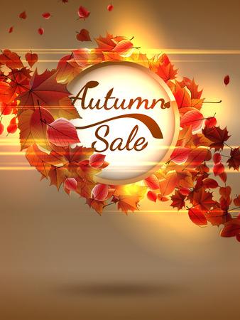 Autumn Sale background with copyspace  plus EPS10