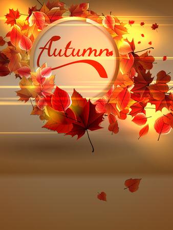 hintergrund herbst: Herbst Hintergrund mit Lichtern Illustration