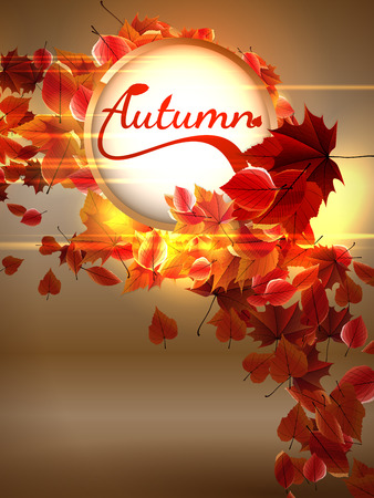 Autumn background with lights. plus EPS10 vector file