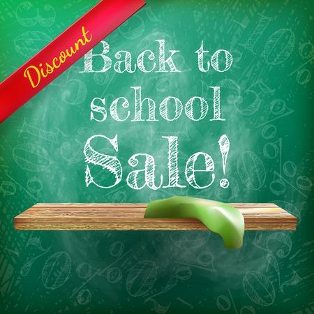 Back to school sale on the chalkboard