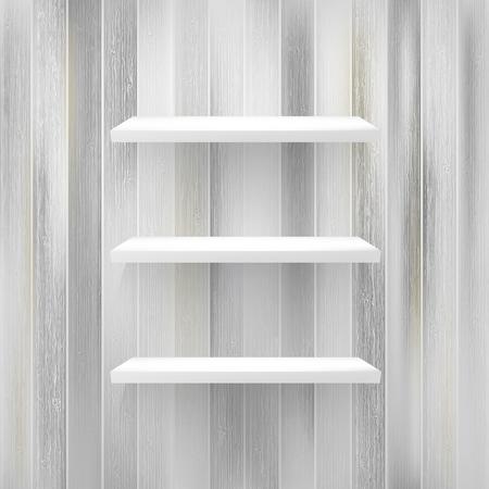 Wood shelf on wood background.   EPS10