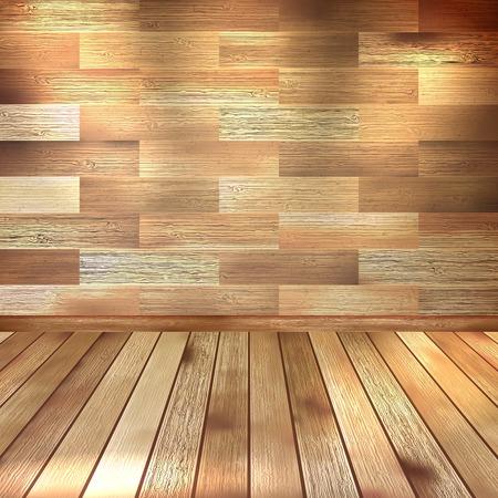 Vintage wooden room. EPS 10