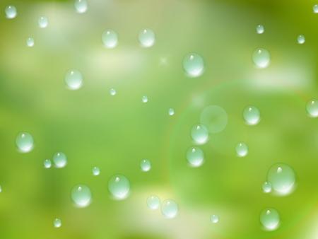 Natuurlijke water druppels op glas. plus EPS10 Stockfoto