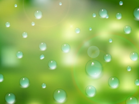 Natural water drops on glass. plus EPS10