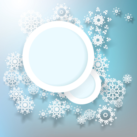 Abstract design snowflakes with copy space. EPS 10