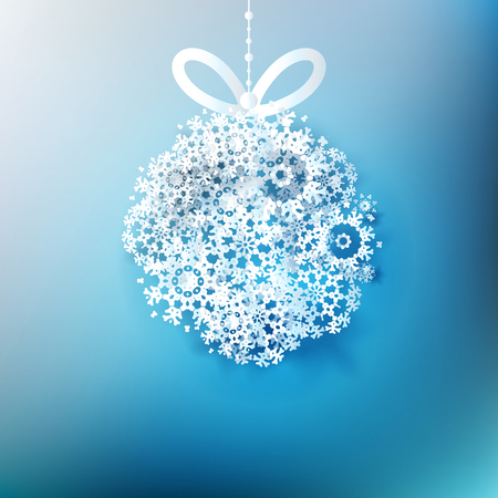 Christmas ball made from snowflakes. EPS 10
