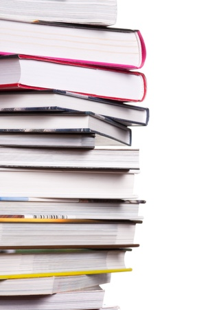 Books in pile on white background Stock Photo - 17569666