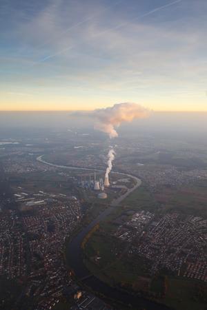 frankfurt: Aerial view to Frankfurt, Germany