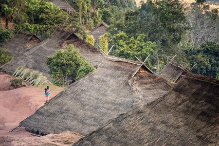 Hill tribe village In thailand
