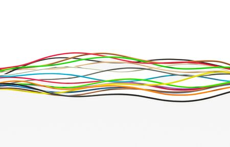 Color wires with white background Stock fotó