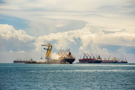 Cargo ship in the Trade Port , Container , Shipping , Logistics