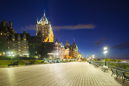 Chateau Frontenac in Quebec City, Canada at  night