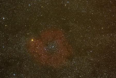 Faint emission nebula  Stock Photo
