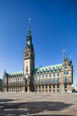 town hall: The famous town hall in Hamburg, Germany Stock Photo
