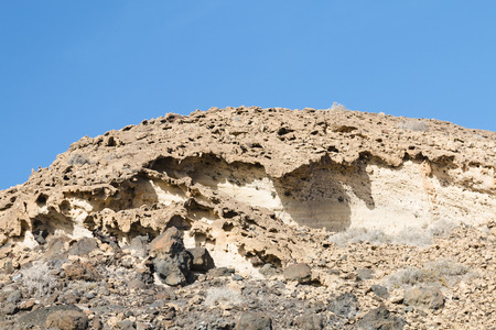 sediments: Eroding rocks and sediments in Fuerteventura