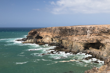 canaries: Large caves used by pirates in the past near Ajuy in Fuerteventura, Spain