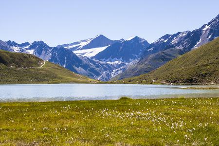 Small lake near Rifflsee in the Pitztal in Austria