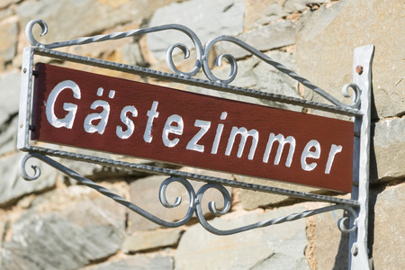 vacant sign: German sign guestroom for vacant guestrooms in the Eifel, Germany