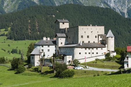 Castle Naudersberg in Nauders, Austria in summer Editorial