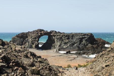 rock arch: A rock arch near Ajuy in Fuerteventura, Spain