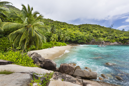 major ocean: MAHE - AUGUST 06: Tourists at Anse Major in the west of Mahe, Seychelles on August 06, 2014