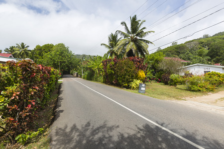 south coast: The South Coast Road at Anse Forbans in the south of Mahe, Seychelles