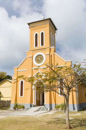 digue: St. Mary?s Church, La Digue, Seychelles