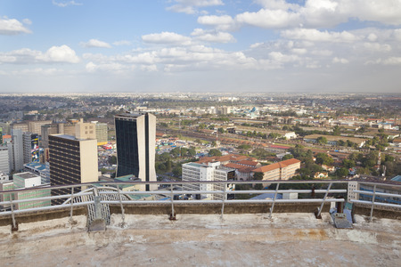 highrises: Nairobi, Kenya - February 7: Modern highrises in the business district of Nairobi, Kenya on February 7, 2013 Editorial