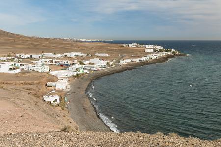 The Playa de la Arena in Playa Quemada in Lanzarote, Spain