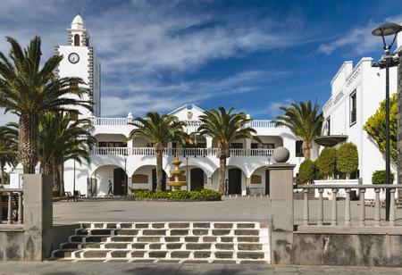 bartolome: LANZAROTE - JANUARY 12: The town hall of San Bartolome in Lanzarote, Spain on January 12, 2016. Editorial