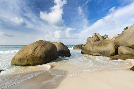 Anse Nord DEst in the north of Mahe, Seychelles