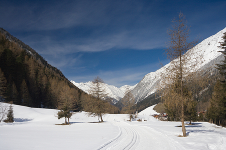 A valley in the oetztal, Austria.