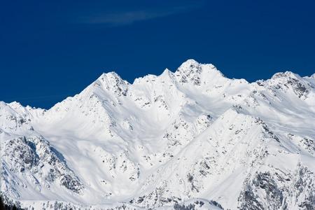Mountains under fresh snow in the oetztal, Austria.